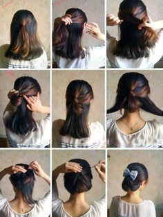Easy, simple up-do