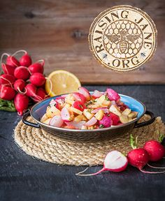 Roasted Radishes & Parsnips w/Lemon Butter: Prep Time: 20 Minutes Cook Time: 20 Minutes Makes: 4 Servings