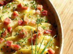Caçarola de Batatas e Presunto Cremoso de Microondas - Veja mais em: http://www.cybercook.com.br/receita-de-cacarola-de-batatas-e-presunto-cremoso-de-microondas.html?codigo=16120