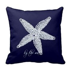 AmazonSmile - Starfish Square Throw Pillow Case Cushion Cover Fashion Home Decorative Pillowcase Cotton Polyester Pillow Cover(45cm x 45cm, Two Sides) -