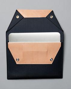 Image of Folded Felt Laptop Sleeve / Black