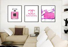 Chanel Print Fashion Print Art Set. Set of 3 von DELDELART auf Etsy