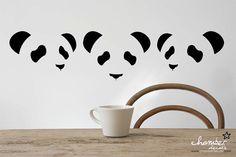 Panda Art Illusion by ChamberDecals on Etsy, $15.00