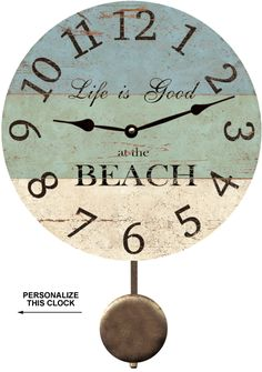 Beach Clock-Life Is Good At The Beach Clock