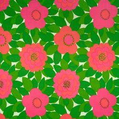 modflowers: vintage Finnish fabric by Raili Konttinen, 1960-63