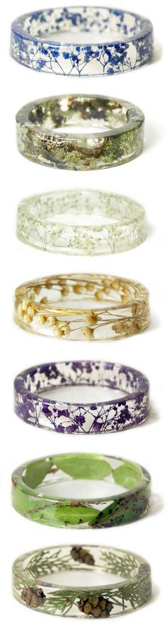 Nature rings...pinned by ♥ wootandhammy.com, thoughtful jewelry.