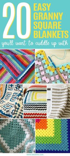There are plenty of great patterns out there but we've narrowed it down to these 20 easy granny square blankets that are perfect to cuddle up with.