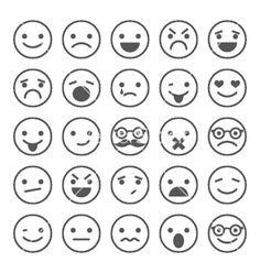 Set of smiley icons with different emotions vector Cartoon Faces, Sketch Notes, Smiley Face Images, Cute Smiley Face, Vector Art, Image Vector, Smile Icon, Face Doodles, Emoji Drawings