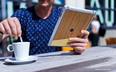 iPad Bamboo Skin by Be markable. made in The Netherlands op CrowdyHouse Netherlands, Bamboo, Ipad, Cover, How To Make, The Nederlands, Holland, Blanket, The Netherlands