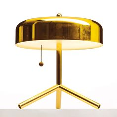 F/K/A lamp by Atelier Takagi Interior Lighting, Modern Lighting, Lighting Design, Modern Lamps, Everything Is Illuminated, Modern Light Fixtures, Shades Of Gold, Lamp Design, Home Decor Accessories