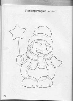 Patchwork by Vanessa Raquel Christmas Sewing, Felt Christmas, Christmas Colors, Christmas Stockings, Christmas Crafts, Christmas Ornaments, Christmas Applique, Applique Templates, Applique Patterns