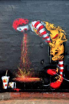 Street Art, gross & humorous!
