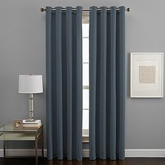 West End Grommet 63-Inch Room Darkening Window Curtain Panel in Pewter