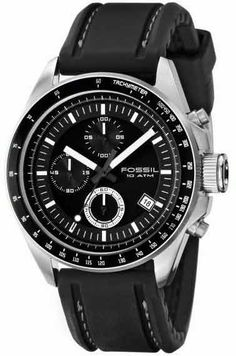 If black is a color you like then Fossil Men's CH2573 Black Silicon Strap Black Analog Dial Chronograph Watch is for you.