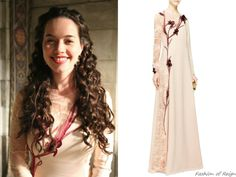 """In the episode 2x22 (""""Burn"""") Lady Lola wears this incredibly beautiful Nina Ricci Embroidered Lace and Silk-Crepe Gown"""