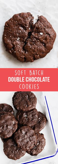 Soft Batch Double Chocolate Cookies - Handle the Heat