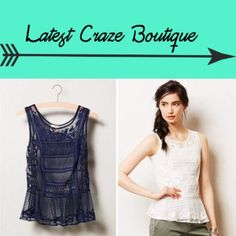 ANTHROPOLOGIE Embroidered Cypress Tank By Lilka, sheer pullover style, navy blue in color, nylon material, 23.5in(L) Tag fell off but plastic tabs remain. Beautiful top for summer! Anthropologie Tops Tank Tops