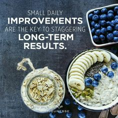 Small daily improvements are the key to staggering long-term results. Thought Of The Day, Improve Yourself, Oatmeal, Health Fitness, Breakfast, Key, Food, Optimism, Lifestyle