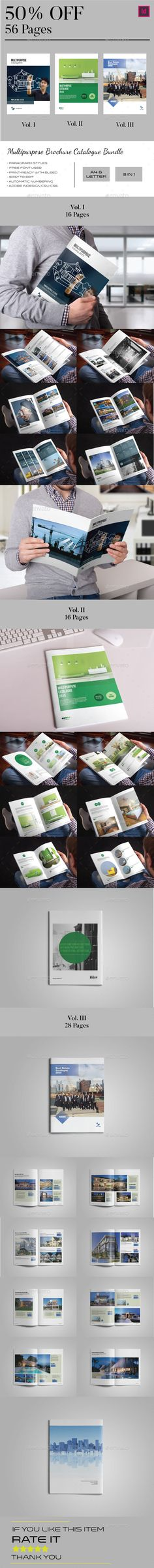 Multipurpose Brochure Catalogue bundle This is profesional Multipurpose Brochure Catalogue bundle template 56 pages total, Clean a
