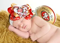 So want to do this! But say Mommy's Girl since daddy doesn't like 49ers lol
