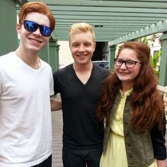 Cameron Monaghan, Noel Fisher and Emma Kenney