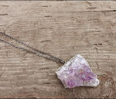Amethyst Geode Rock Necklace