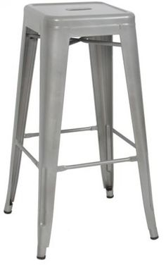 Best Choice Products Home Set of 2 Modern Industrial Metal Bar Stools Silver #BestChoiceProducts