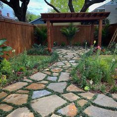 Slate Pavers, Grass Pavers, Pergola, Landscaping On A Hill, Outdoor Seating, Outdoor Decor, Planning Board, Cement, Sunlight