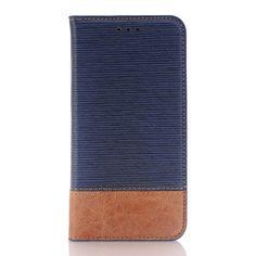 Javu - Samsung Galaxy S7 Hoesje - Book Case Denim en Leer Donker Blauw | Shop4Hoesjes
