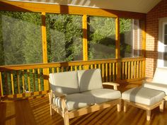A deck converted into a screened porch. Screened In Deck, Screened Porches, Outdoor Spaces, Outdoor Living, Outdoor Decor, Southern Porches, Decks And Porches, Home Goods, Outdoor Furniture Sets