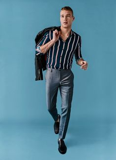 Right now, the standout move is to take the vertical leap with this season's bold striped menswear, from polos to pants.