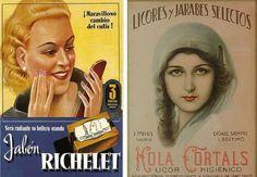 Jabon para la cara Richelet de 1935 y Licor Higienico Kola Cortals, 1950