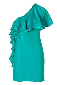 You might also like HALSTON HERITAGE  THEORY  BIRD BY JUICY COUTURE  HALSTON HERITAGE Cactus One-Shoulder Ruffled Dress