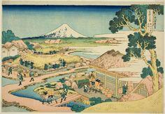 Katsushika Hokusai  Japanese, 1760-1849  Publisher: Hibino Yohachi  Japanese, unknown, The Tea Plantation of Katakura in Suruga Province (Sunshu Katakura chaen no Fuji), from the series Thirty-six Views of Mount Fuji (Fugaku sanjurokkei)