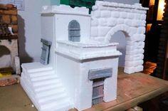 Cómo realizar tu propio belén navideño paso a paso - Leroy Merlin Christmas Nativity Scene, Christmas Crafts, Styrofoam Crafts, Diy Crib, Art Village, Polymer Clay Crafts, Diy Dollhouse, Miniture Things, Little Houses