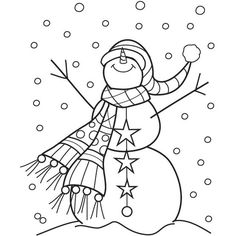 Outlines Mounted Rubber Stamp 2 - Snowman Sparkle - Overstock Shopping - Big Discounts on Wood Stamps Hampton Art, Stencil Templates, Stencils, Outline Drawings, Christmas Art, Christmas Stocking, Coloring Book Pages, Digital Stamps, Scrappy Quilts
