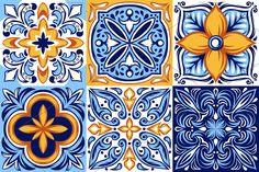 Ethnic by incomible on Italian ceramic tile pattern. Mexican talavera, portuguese azulejo or spanish majolica. Ethnic Patterns, Tile Patterns, Pattern Art, Print Patterns, Free Pattern, Italian Pattern, Turkish Pattern, Spanish Pattern, Italian Tiles