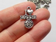 10 I Love Soccer Charms  S0061 by StashofCharms on Etsy