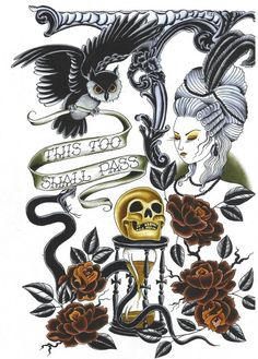 Tattoo Flash. Death is inevitable.