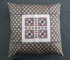 Decorative embroidered pillow cushion with embroidery by GNatelier
