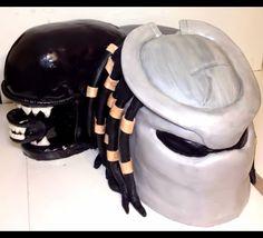 Alien vs Predator birthday cake. (AVP cake) Boy Birthday Parties, Birthday Ideas, Birthday Cake, I Party, Party Ideas, Alien Cake, Fire Cake, Alien Party, Baking Business