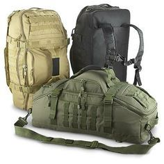3 - in - 1 Military Tactical Gear Bag Take a look at these cute duffel bags