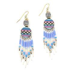 Vanessa Mooney- Fly Girl Earrings, Blue