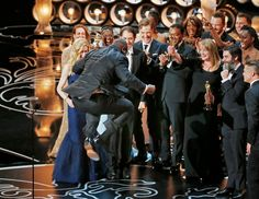 Steve McQueen after winning Best Film for 12 Years A Slave