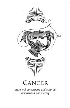 'Cancer - Shitty Horoscopes Book IV: Resolutions' by musterni Astrology Zodiac, Astrology Signs, Pisces, Zodiac Signs, Cancer Zodiac Art, Cancer Astrology, Cancer Horoscope, Logos Retro, Zodiac Sign Tattoos