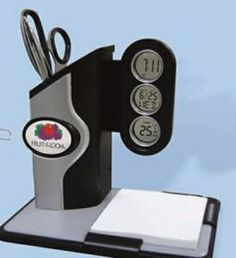 Memo Pad & Pen Holder Alarm Clock