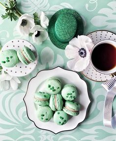 I was so in hopes that I would crack one of these suckers while o was so that I could eat it. Better for the waist line I guess. Macarons from Are you guys playing and Teacup from Coffee Set, I Love Coffee, Coffee Break, Morning Coffee, Coffee Cups, Tea Cups, Brown Coffee, Macarons, Flat Lay Photography