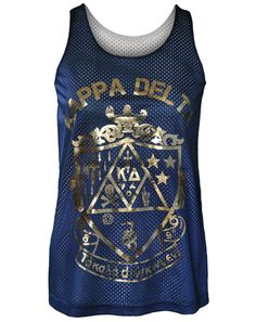the upsilon chapter of kappa delta got these jerseys in blue and yellow, #beloitcollege colors