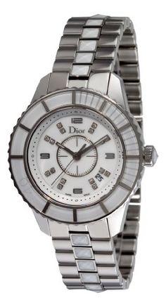 Christian Dior Women`s CD113112M002 Christal Diamond White Dial Watch $2,518.36