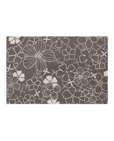 Crate and Barrel rug. I LOVE the pattern and neutral color!
